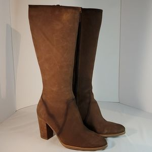 Ecco Knee High Brown Boots